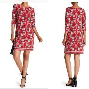Max Studio floral print shift dress
